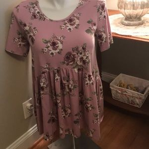 Agnes & Dora Tunic Babydoll Top Large